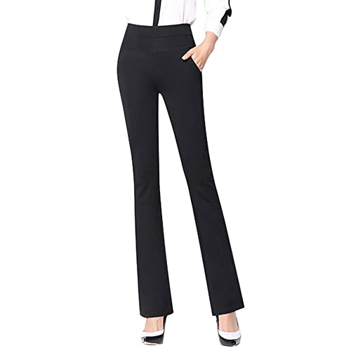 5d1544a4da905 ABCWOO Womens Dress Work Pants Ladies High Waisted Pull-On Ankle Trousers  Slim Stretch Bootcut