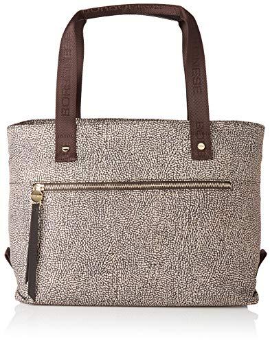 Borbonese Shopping Bag, Borsa Tote Donna, Marrone (Op...