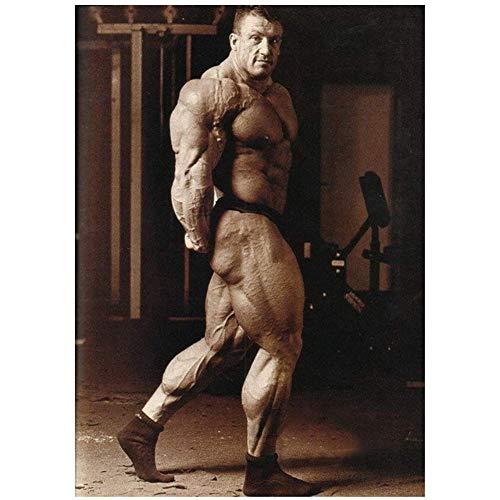 NRRTBWDHL Dorian Yates - Englischer Top Bodybuilder Mr Olympia Poster Druck auf Leinwand-60x80cm ohne Rahmen