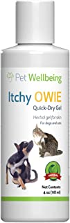 Pet Wellbeing Itchy Owie Quick-Dry Gel for Dogs - Natural Dry Skin Relief for Canines - 4oz (118ml)