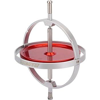 科学玩具 ジャイロごま SGジャイロスコープ (レッド, 大/ディスク直径6cm)
