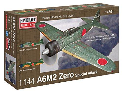 Minicraft Models Dempsey Designs Morceau modèles Echelle 1 : 144 cm A6 M2 Zero IJN/IJA Attack Avion modèle Kit