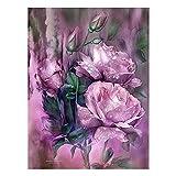 Diamond Painting Rhinestone Bordado Punto de Cruz Artes 5D DIY Pintura Diamante Rosa Purpura Taladro Completo Kit Talla Grande Decoración de la Pared del Hogar Diamante redondo60x80 cm