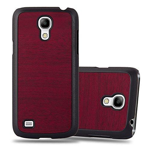 Cadorabo Coque pour Samsung Galaxy S4 Mini en Woody Rouge - Housse Protection Rigide en Plastique Dur avec Anti-Choc et Anti-Rayures - Ultra Slim Fin Hard Case Cover Bumper