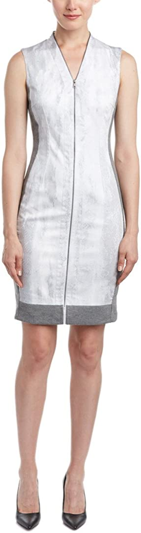 T Tahari Womens Sheath Dress, 10, Grey