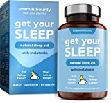 Vitamin Bounty Get Your Sleep - Natural Sleep Aid with Melatonin, All Natural & Non Habit Forming