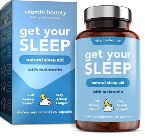 Vitamin Bounty Get Your Sleep - Natural Sleep Aid with Melatonin, All Natural & Non Habit Forming