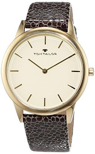 TOM TAILOR Watches Damen-Armbanduhr Analog Quarz Leder 5414702