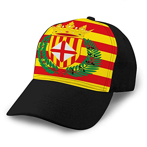 Unisex Summer Fashion Cotton Baseball Cap Adjustable Trucker Hats Flag of Barcelona...