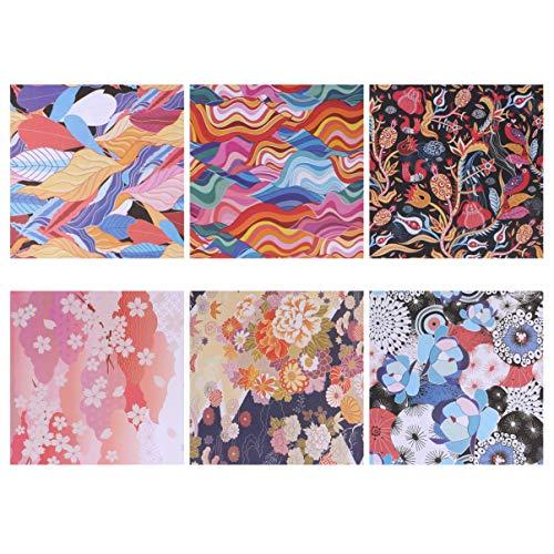 MILISTEN - 100 piezas de papel origami estilo japonés de doble cara cuadrada, papel plegable, bricolaje, artesanía, papel para niños principiantes