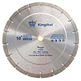 Kingthai 10 Inch Wet Dry Segmented Cutting Concrete Diamond Saw Blade for Masonry with 7/8 or 5/8 Inch Arbor