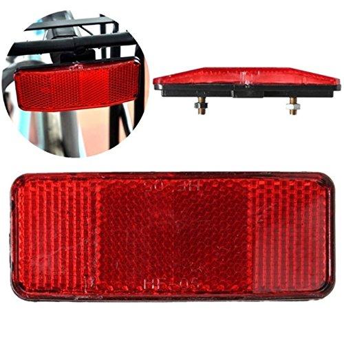 Cunluna Fahrrad-Sicherheits-Reflektorscheibe für Gepäckträger hinten
