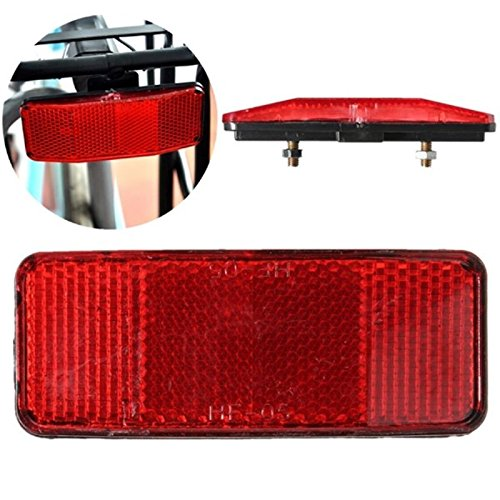 HiRXX Fahrrad Sicherheit Vorsicht Warnung Reflektor Disc Hinten Gepäckträger Rahmen