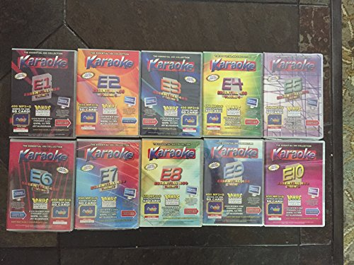 Chartbuster Essential 450 Karaoke MP3+G Volumes 1-10 on SD CARDS - 4500 Tracks
