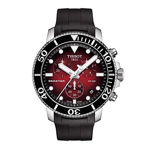 Orologio cronografo uomo Tissot T120.417.17.091.00 acciaio collezione Seastar 1000 Cronograph