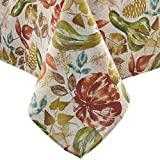Elrene Home Fashions Gourd Gathering Fall Printed Tablecloth, 52' x 70', Multi