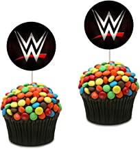 Wwe Cupcake Toppers Cupcake Decorations Birthday Party Wwe Theme for Boys, 25 counts