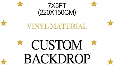 MEHOFOTO Birthday Party Customized Backdrop Vinyl Material 7x5ft(Please Provide Custom Information After Your Payment)