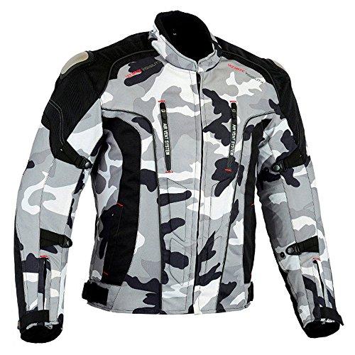 SPEED MAXX LTD CE Armor Cordura - Chaqueta de motociclismo para hombre (talla...