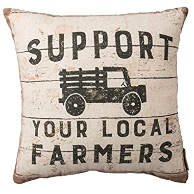 Primitives by Kathy Rustic-Inspired, Throw Pillow, Support Your Local Farmers