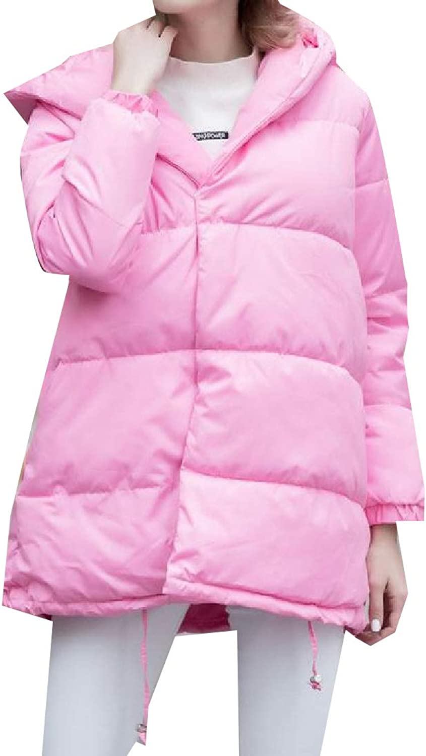 TaoNice Women Hooded Casual Baggy Style Thickened PlusSize Jacket Coat