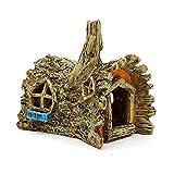 XYZMDJ Accesorios de decoración de Acuario Casa de Resina Artificial Refugio Cueva Reptil Agujero Pecado Tanque de Paisajismo Adornos Decoración del Paisaje