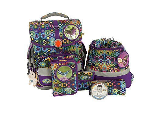 School-Mood 7-teiliges Schulranzenset Timeless M.B.in verschiedenen Designs (Victoria)