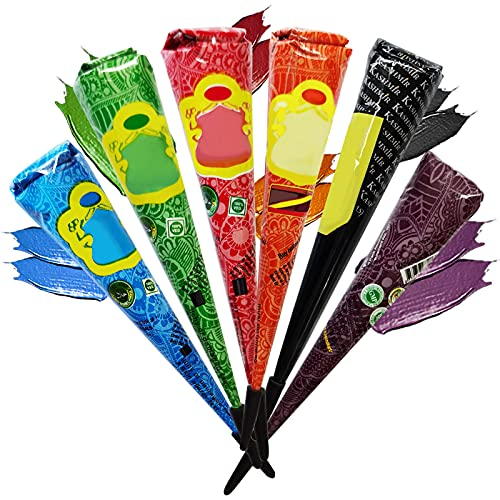Janolia Satz von Tätowierung, Sicher Wasserdicht Tätowierung malen mit 4 Stück Drei farbe Einfügen Kegel, 20 Stück Klebe-Schablone, 1 Flasche, 4 Stück Düsen