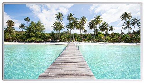Bildheizung Infrarotheizung mit Digitalthermostat - 5 Jahre Herstellergarantie - - Heizt nach dem Prinzip der Sonne(Thailand Strand mit Steg,600)