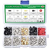 350PCS Personal Computer Screw Assortment Kits, 6-32 Male to M3 Female Standoffs Sets for 2.5'' SSD Hard Drive Fan Power Graphics Motherboard Chassis CD-ROM Computer ATX Case DIY & Repair Computer