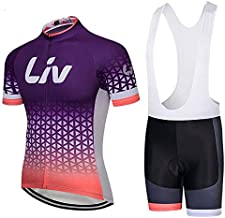 Women's Short Sleeve Cycling Jerseys and Bib Shorts Set Bicycle Jersey Summer Quick Drying Breathable Jersey V252