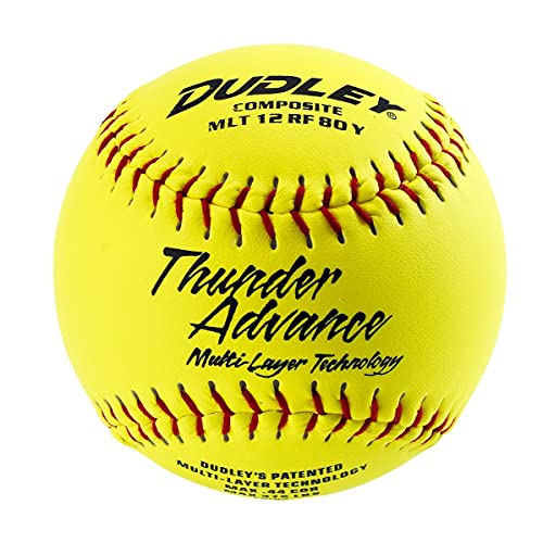 """Dudley Thunder Advance 12"""" Slow Pitch Softball - Composite Cover - Pack of 12"""