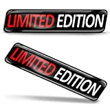 SkinoEu® 2 pcs 3D Gel Silicone Stickers Pegatinas Limited Edition Silicona Adhesivo Autos Coches Motos Ciclomotores Bicicletas Ordenador Portátil KS 102