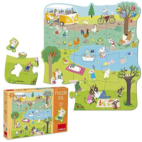 Goula-Un Dia en el Campo Puzzle XXL, Multicolor (53427)