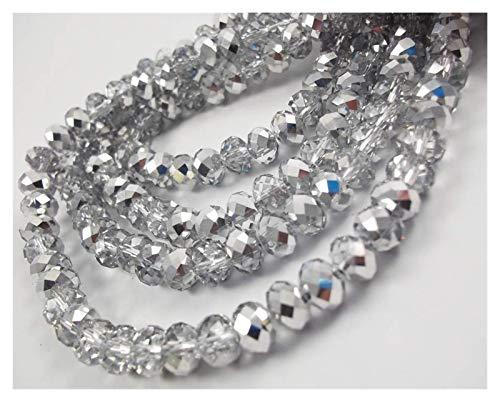 TWWSA Cuentas espaciadoras 4 * 3mm Crystal Beads Czech Faceted Jewelry Hallazgos Spacer Pendientes Brazalete Pulsera Lariat Collar Accesorios Hecho a Mano