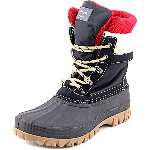COUGAR Women's Creek Lace Up Waterproof Winter Boot Black 6 Medium US