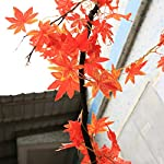 code florist fall artificial maple leaf wired garland for thanksgiving,weddings decorations,festival events,106 inch long