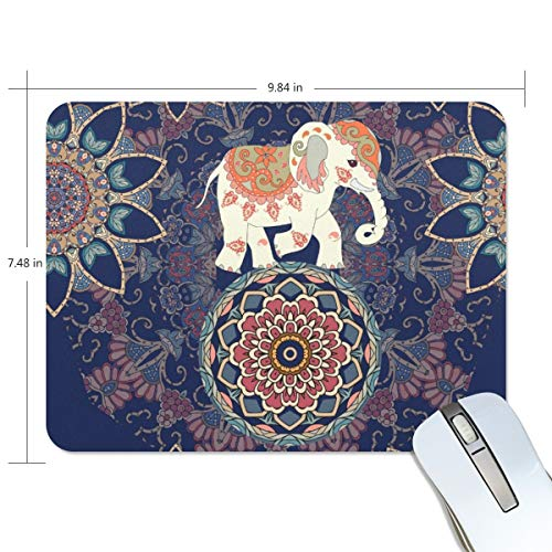 playroom Game Mouse pad Design Elephant Bohemia Purple Extended Ergonomic for Computers Mouse mat Custom-Made