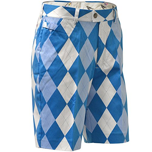 Royal & Awesome Men's Plus Size Patterned Golf Shorts, Old Tom's, 42W