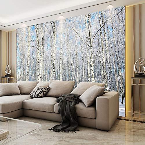 RTYUIHN 3D tapete wandbild Feld Landschaft Wohnzimmer Schlafzimmer tapete 3D dreidimensionale birke Wald Schlafzimmer Wohnzimmer Moderne wandkunst Dekoration