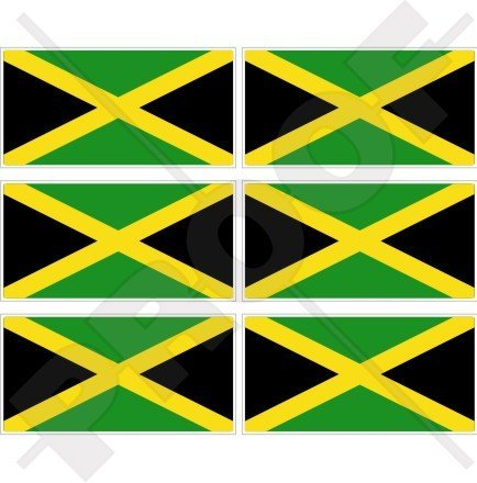 Jamaica Jamaika Flagge Karibik 40mm (40,6cm) Mobile Handy Vinyl Mini Sticker, Aufkleber X6