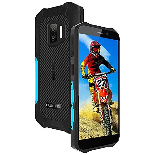 Moviles Resistentes,OUKITEL WP12 Android11 4GB+32GB,IP68,4000mAh,5.5pulgadas Moviles Irrompibles,Cámara,Dual SIM,3 LED Flash,Moviles Indestructibles Antigolpes,Color Azul