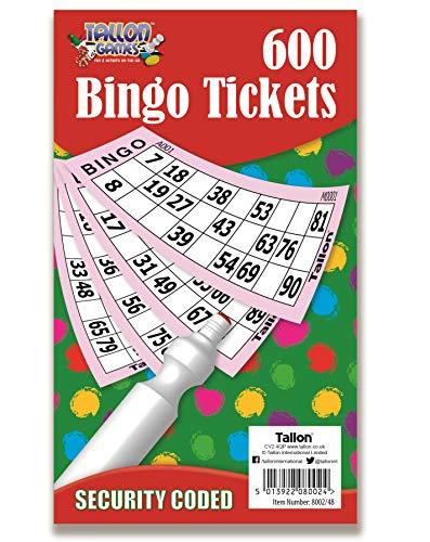 600 Bingo Tickets Schreibwaren Multi Spiel Spielsachen Kinder Erwachsene Spaß Bücher Seiten Jumbo