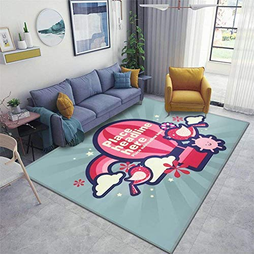 Home Area Runner Rug Pad hot air Balloon Template Thickened Non Slip Mats Doormat Entry Rug Floor Carpet for Living Room Indoor Outdoor Throw Rugs