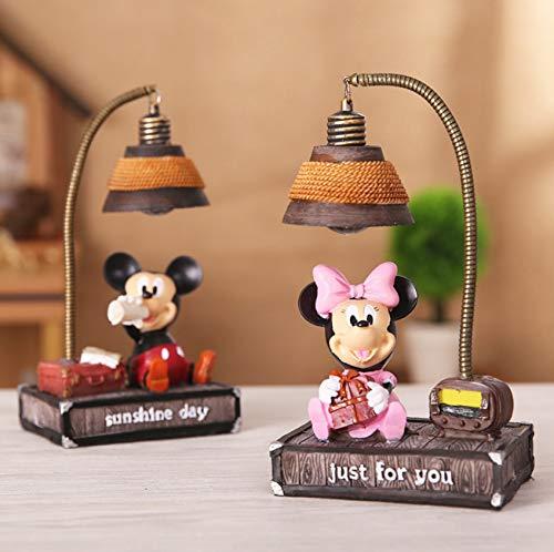 lot de 2 Mickey et Minnie Veilleuse Lumière de nuit micro paysage