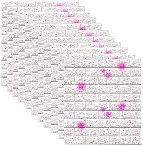 GG.S Pegatinas de Pared Pegatinas de Pared de ladrillo 3D, Espuma autoadhesiva de Polietileno. Fondo de Pantalla extraíble y Azulejos de Pared a Prueba de Agua for Dormitorio
