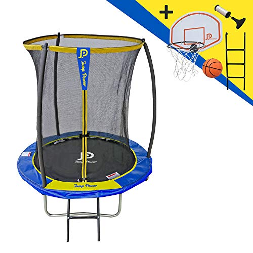 STARFLEX Jump Power Trampolin mit Leiter und Basketballkorb (183)
