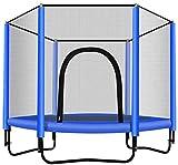 Mopoq Trampoline Runde Trampolin mit Gehäuse Net- Indoor oder Outdoor-Trampolin for Kinder,...