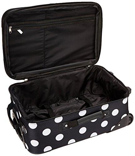 Rockland Fashion Softside Upright Luggage Set, Black Dot, 2-Piece (14/19)