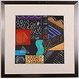 リー・フィリップス 「ニューオプションズ・4」 現代アート 絵画 抽象画 モダンアート モノタイプ 版画 一点物 額付き